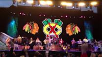 Patrick Kane, Stanley Cup take the stage at Jimmy Buffet concert
