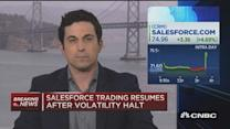 Salesforce trading resumes after volatility halt