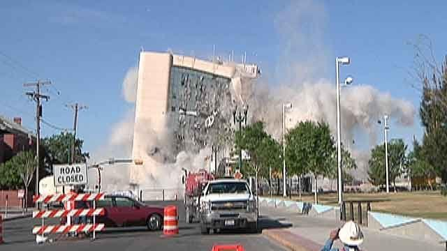 Demolition changes skyline of Texas town