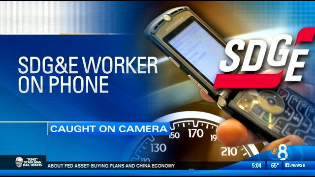 SDG&E worker caught driving while using cell phone
