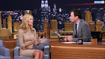 Jimmy Fallon Peeks Up Heidi Klum's Dress, Forms Human Wheel & Then Tries It German Style