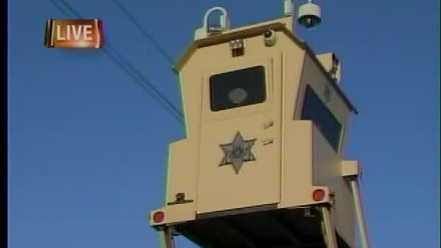 Border control security used at fair
