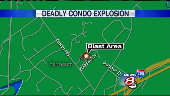 Yarmouth residents survey blast damage