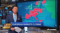 European markets close: Vodafone up over 8%