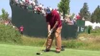 Charles Barkley Tees Off One-Handed in Celebrity Golf Game