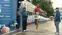 Feyisa Lilesa won the men's half marathon