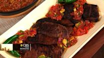 THE Dish: Chef John Stage's skirt steak with charred tomato and avocado salsa