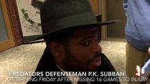 P.K. Subban returns after 16 game absence
