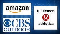 Amazon on fire, CBS climbing, Lulu founder turns on board
