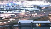 Southbound I-25 Backup From Accident Near Mile High