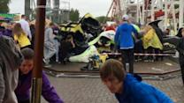 Roller Coaster Derails, Injuring 10 People