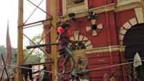 6-year-old girl performs amazing tightrope act