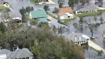 Raw video: Sopping mess left behind by Isaac