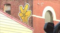 D`oh! Suburban graffiti artist spotlights Simpsons