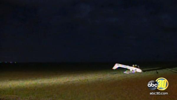 Cessna airplane crashes in Merced County