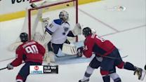 Alex Ovechkin chips it over Halak to score