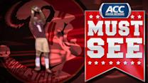 FSU's Jameis Winston Incredible Touchdown Pass | ACC Must See Moment