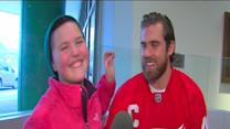 Children's Hospital patient interviews Red Wings captain Henrik Zetterberg