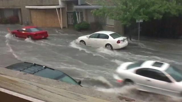 Hail, Flooding Across the Midwest