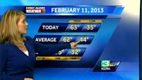 Eileen's Monday Forecast 2.11.13