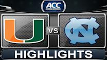 Miami vs North Carolina | 2014 ACC Women's Basketball Highlights