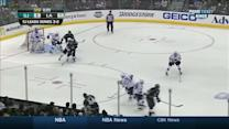 Justin Williams jams it past Stalock