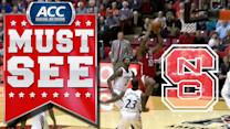 NC State's Lennard Freeman Down The Lane For Two-Hand Slam | ACC Must See Moment