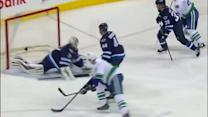 Ryan Kesler puts the backhand past Pavelec