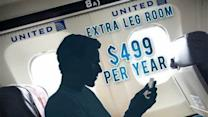United Airlines Offers Yearly Fee for Baggage, Leg Room