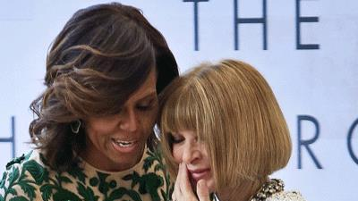 Michelle Obama and Anna Wintour Have a Moment