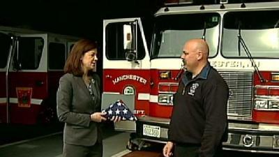 9/11 Flag Given To Local Firefighter