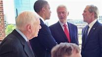 All Living Presidents Attend Bush Library Opening