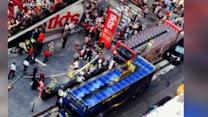 2 Double Decker Buses Crash in NYC