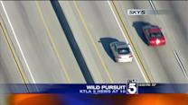 Man Arrested After Wild Pursuit Across Several SoCal Freeways