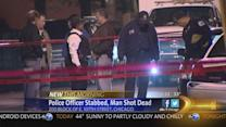 Police officer stabbed in face; suspect killed by Chicago police