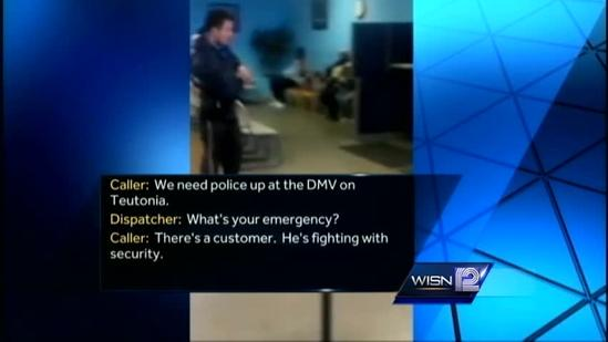 911 calls released from fight at DMV center