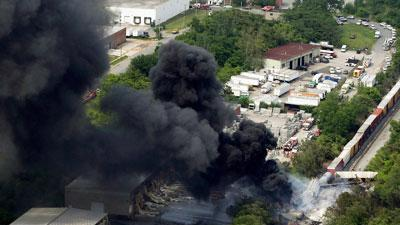 NTSB: Chemical Cargo Likely Caused Train Blast