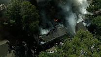 Alleged hoarder's house goes up in flames