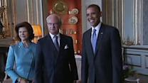 Obama meets Swedish royal family