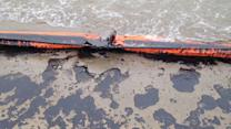 Crews scramble to contain massive oil spill in Texas