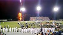 Lightning Strikes During Marching Band Performance