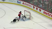 Fleury stacks the pads stuffing Karlsson