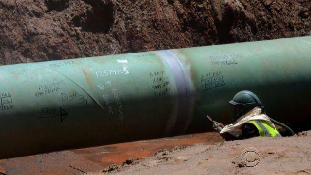 Keystone pipeline showing evidence of construction problems
