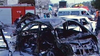 Raw: Blast in Syrian capital kills at least 13
