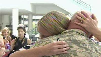 Soldiers Welcomed Home At BWI