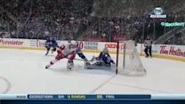Tomas Tatar backhands in front to tie game