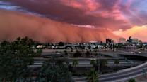 Giant Dust Storm Engulfs City In Arizona