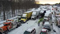 3 dead, at least 20 injured in multi-vehicle crash on I-94 near Michigan City