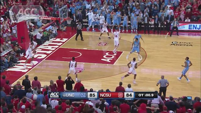 UNC's Marcus Paige Hits Game-Winner In Overtime vs NC State | ACC Must See Moment
