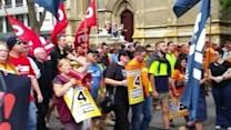 Thousands March in Melbourne for Workers' Rights